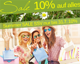 Summer SALE 10% - auf alles und Ihr bestehendes Angebot bis 31.7.2015
