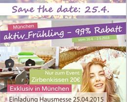 Save the Date: 25.4. Hausmesse in der KUTCHiiN von Holger Stromberg | Fit ins Frühjahr | Messe für Zirbenholzmöbel