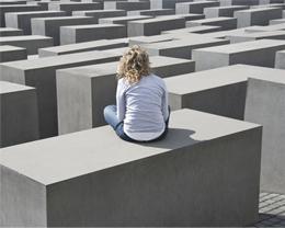 Das Holocaust Mahnmal in Berlin