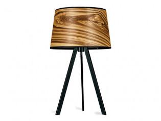 Attica Tischlampe | Holz Furnier Lampe Kernesche