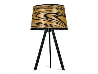 Attica Tischlampe | Holz Furnier Lampe White Ebony