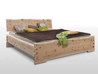 Zirbenbett Zirm Koje, Größe 200x180 cm, unbehandeltes Zirbenholz,  passende Nachttische zusätzlich erhältlich