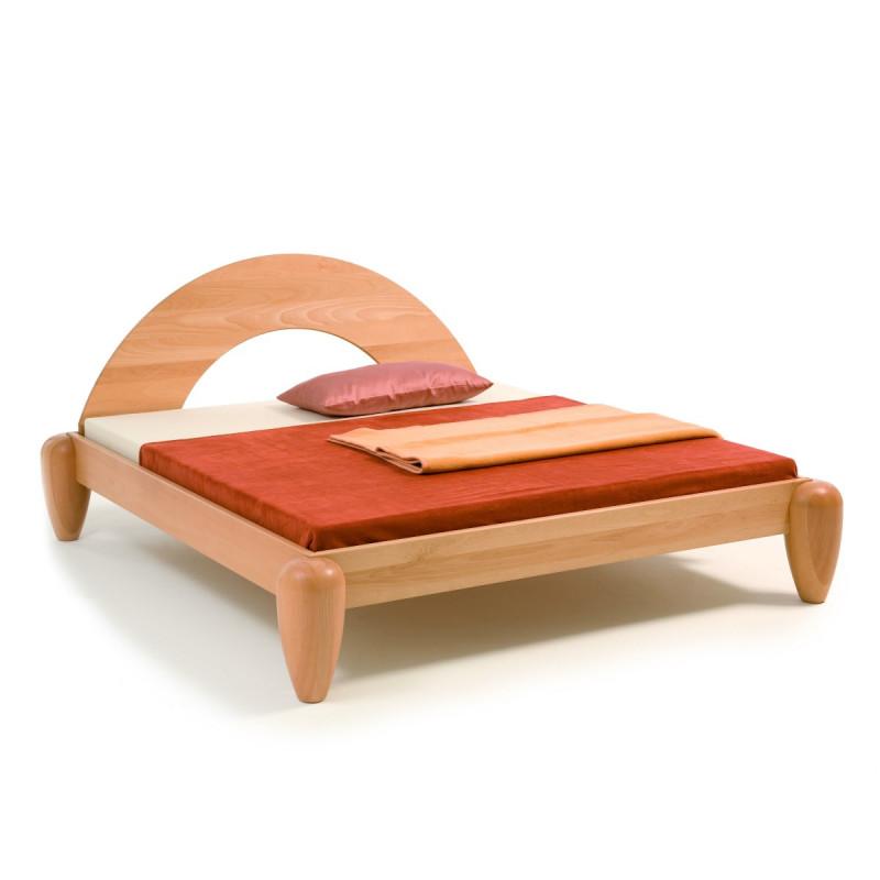 Feng Shui Bett DROP, metallfrei, 200x160, Massivholz Buche geölt, viele Hölzer, jede Größe, Rahmenstärke 2,8cm