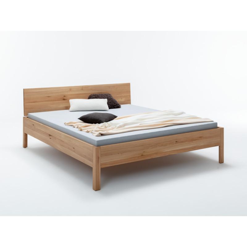 preiswertes, Massivholzbett Lotta, 200x120cm, Wildeiche geölt, massiv, Rahmenstärke 3cm
