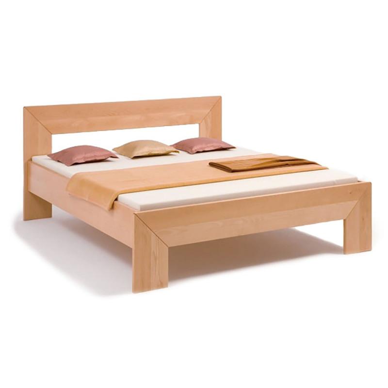 Natur - Holzbett FRAME, 200x180, Massivholzbett, metallfrei, Buche geölt, verschied. Hölzer, Rahmenstärke 2,8cm