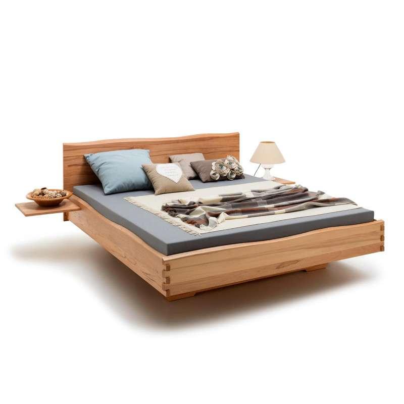 Bett WANGEN, 200x140cm, Massivholz Kernbuche und andere, Hölzer, alle Größen, Rahmenstärke 3cm