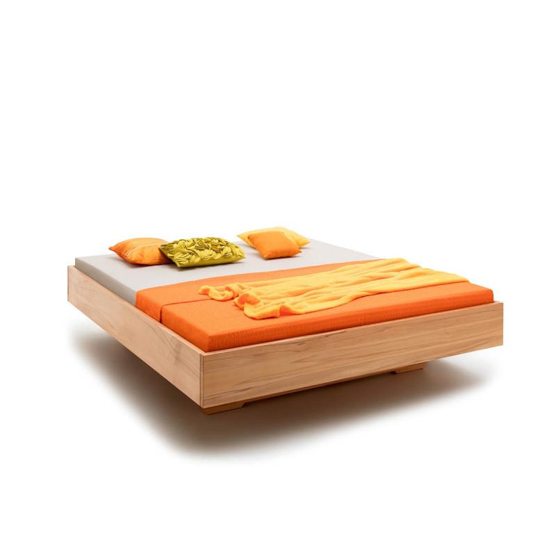 Massivholzbett, Bett Modell GÖTTINGEN, 200x180, Kernbuche massiv, versch. Hölzer, alle Größen, Rahmenstärke 3cm