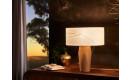 Pura Nachttischlampe | Schirm aus Blättern - Fuß aus Eiche