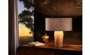 Pura Nachttischlampe | Schirm aus grauem Filz - Fuß aus Eiche