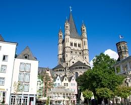 Die historische Altstadt in Köln