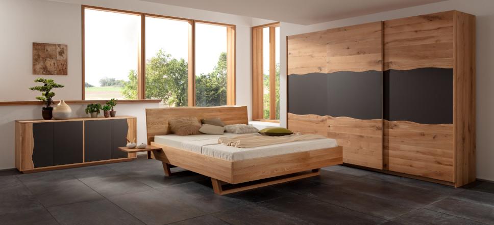 Wildeiche Schlafzimmer Spessart III