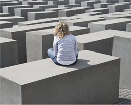 Das Holocaust Mahnmal in Berlin