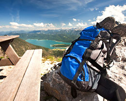 Der Herzogstand über den Bayerischen Alpen