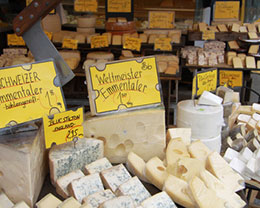 Der Münchener Viktualienmarkt