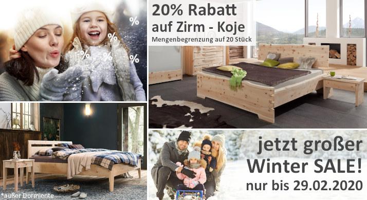Winteraktion 20% Rabatt